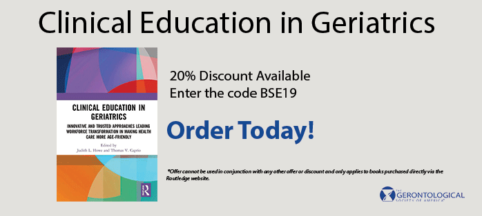Clinical Education in Geriatrics