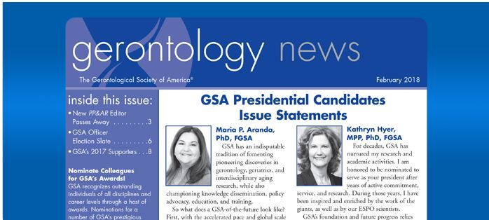 Gerontology News