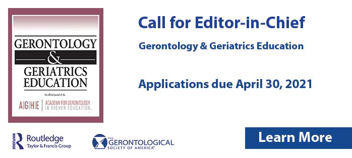 Gerontology & Geriatrics Education