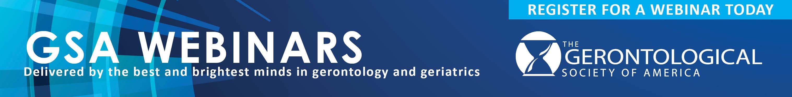 GSA Webinars